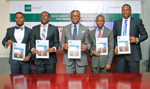 Ike Chioke and team holding 2020 Nigeria economic report